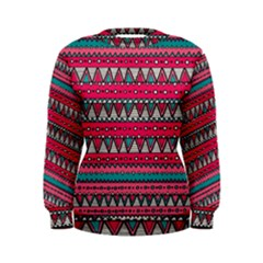 Aztec Geometric Red Chevron Wove Fabric Women s Sweatshirt