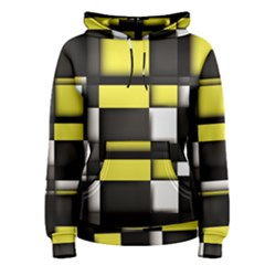 Color Geometry Shapes Plaid Yellow Black Women s Pullover Hoodie