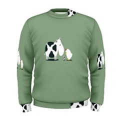 Cow Chicken Eggs Breeding Mixing Dominance Grey Animals Men s Sweatshirt