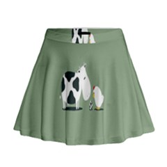 Cow Chicken Eggs Breeding Mixing Dominance Grey Animals Mini Flare Skirt