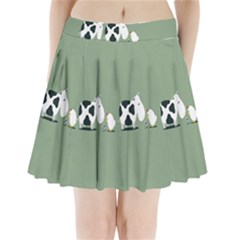 Cow Chicken Eggs Breeding Mixing Dominance Grey Animals Pleated Mini Skirt