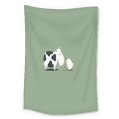 Cow Chicken Eggs Breeding Mixing Dominance Grey Animals Large Tapestry
