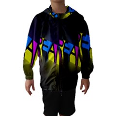 Dream Colors Neon Bright Words Letters Motivational Inspiration Text Statement Hooded Wind Breaker (kids)