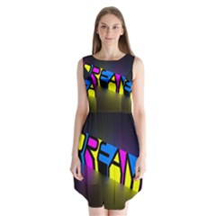Dream Colors Neon Bright Words Letters Motivational Inspiration Text Statement Sleeveless Chiffon Dress