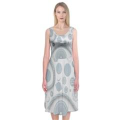 Eguipment Grey Midi Sleeveless Dress