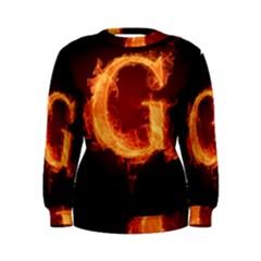 Fire Letterz G Women s Sweatshirt