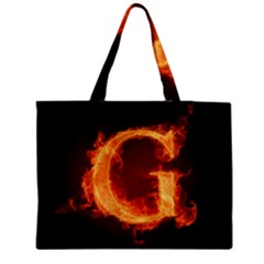 Fire Letterz G Medium Tote Bag