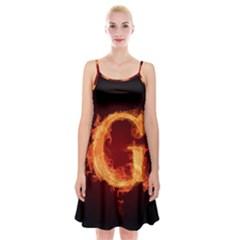 Fire Letterz G Spaghetti Strap Velvet Dress