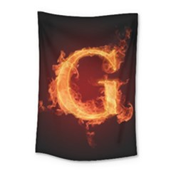 Fire Letterz G Small Tapestry