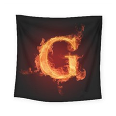 Fire Letterz G Square Tapestry (small)