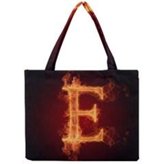 Fire Letterz E Mini Tote Bag