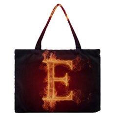 Fire Letterz E Medium Zipper Tote Bag