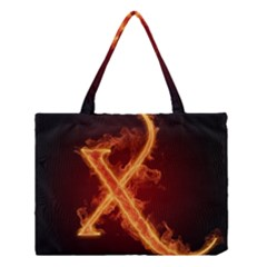 Fire Letterz X Medium Tote Bag