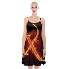 Fire Letterz X Spaghetti Strap Velvet Dress