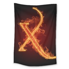 Fire Letterz X Large Tapestry