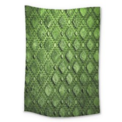 Circle Square Green Stone Large Tapestry
