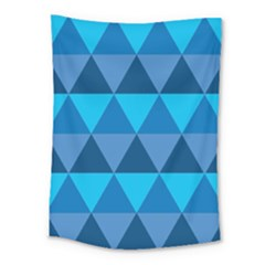 Geometric Chevron Blue Triangle Medium Tapestry