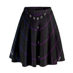 Formula Number Line Purple Natural High Waist Skirt