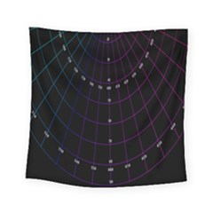 Formula Number Line Purple Natural Square Tapestry (small)