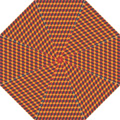 Geometric Plaid Red Orange Straight Umbrellas