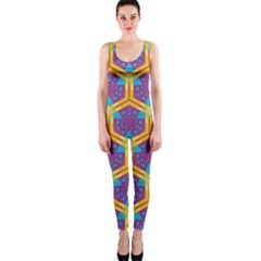 Yellow honeycombs pattern                                                          OnePiece Catsuit