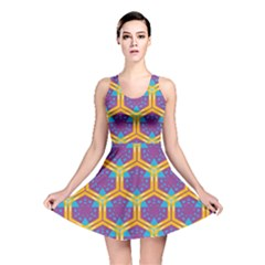Yellow honeycombs pattern                                                          Reversible Skater Dress