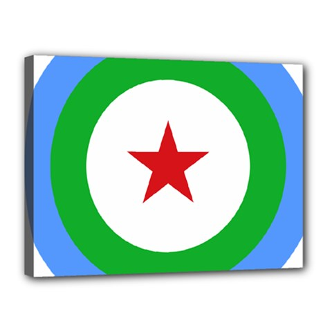 Roundel of Djibouti Air Force  Canvas 16  x 12