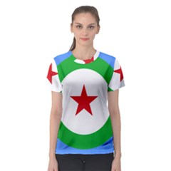 Roundel of Djibouti Air Force Women s Sport Mesh Tee