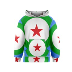 Roundel of Djibouti Air Force Kids  Pullover Hoodie