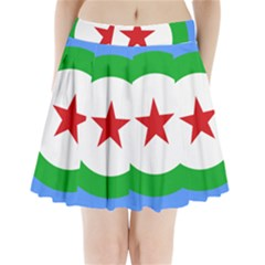 Roundel of Djibouti Air Force Pleated Mini Skirt