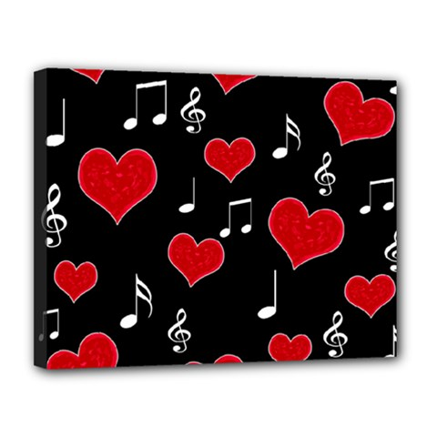 Love song Canvas 14  x 11