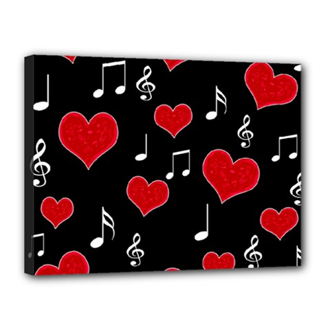 Love song Canvas 16  x 12