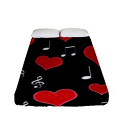 Love song Fitted Sheet (Full/ Double Size)