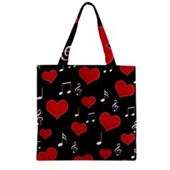 Love song Zipper Grocery Tote Bag