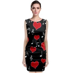 Love song Classic Sleeveless Midi Dress