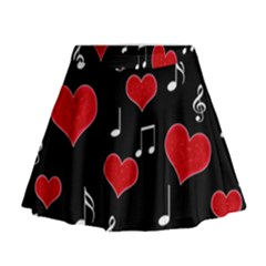 Love song Mini Flare Skirt