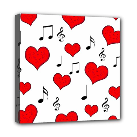 Love song pattern Mini Canvas 8  x 8