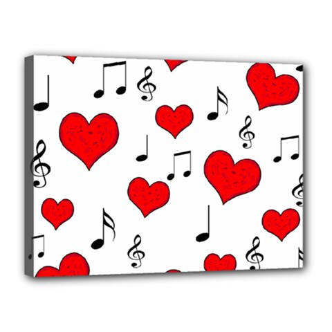 Love song pattern Canvas 16  x 12