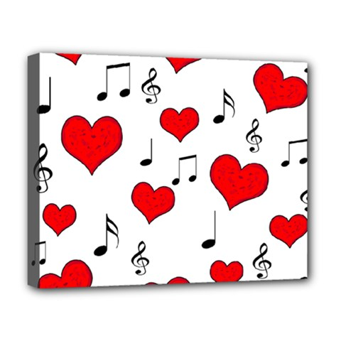 Love song pattern Deluxe Canvas 20  x 16
