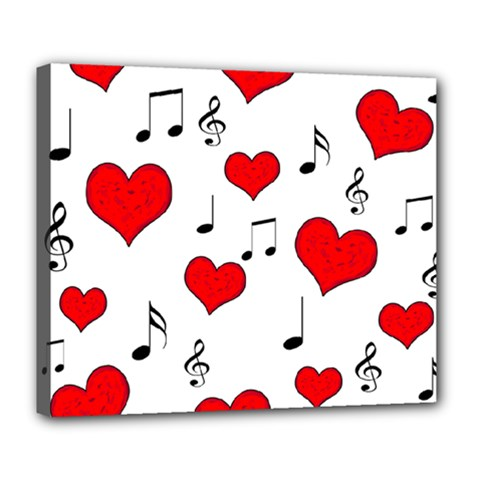 Love song pattern Deluxe Canvas 24  x 20