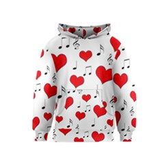 Love song pattern Kids  Pullover Hoodie
