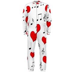 Love song pattern OnePiece Jumpsuit (Men)