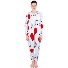 Love song pattern OnePiece Jumpsuit (Ladies)