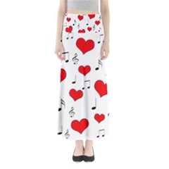 Love song pattern Maxi Skirts