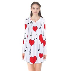 Love song pattern Flare Dress