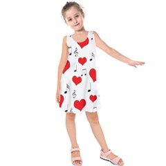 Love song pattern Kids  Sleeveless Dress