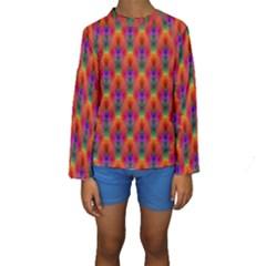 Apophysis Fractal Owl Neon Kids  Long Sleeve Swimwear