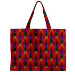 Apophysis Fractal Owl Neon Zipper Mini Tote Bag