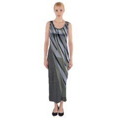 Architecture Fitted Maxi Dress
