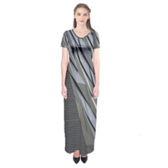 Architecture Short Sleeve Maxi Dress
